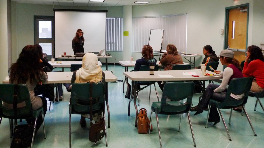 Women attending workshop
