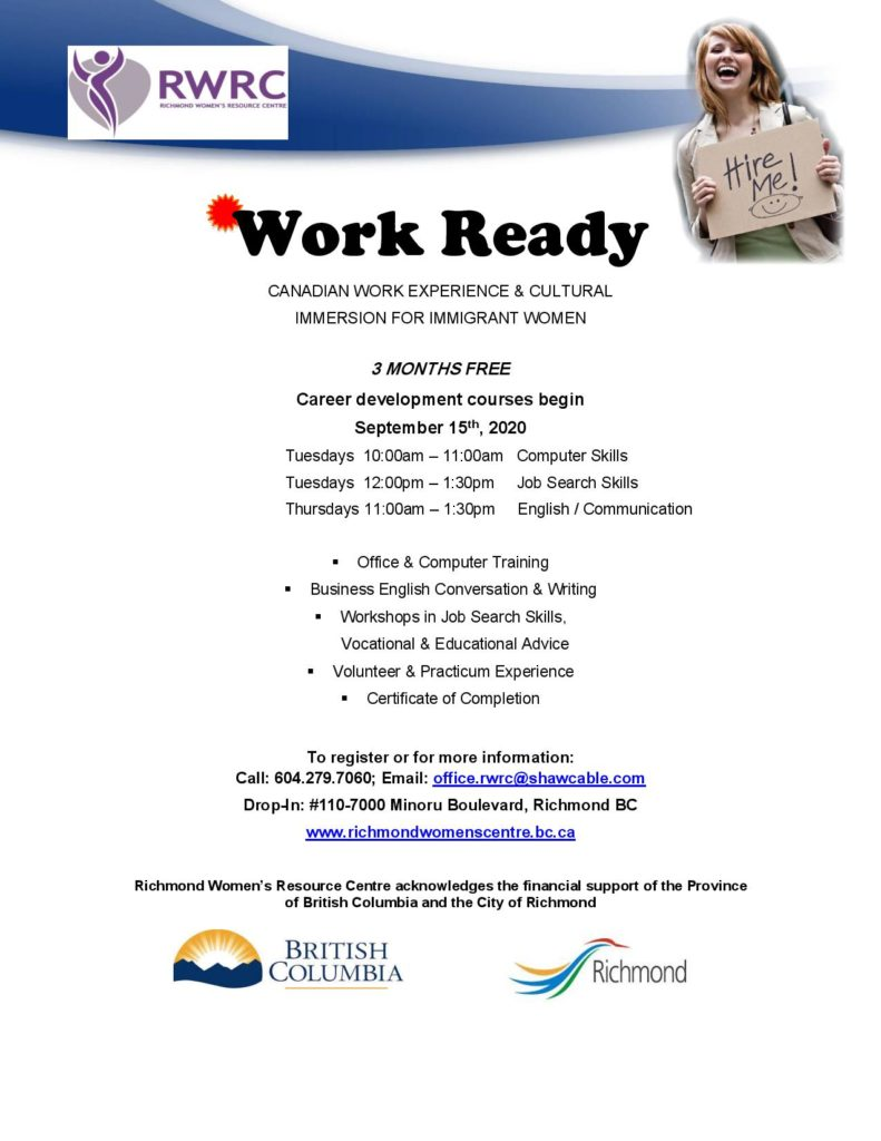 Work Ready September 2020 poster