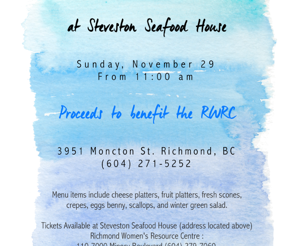 Event Invite | 2015 Steveston Seafood House Brunch Fundraiser (Nov 2015)