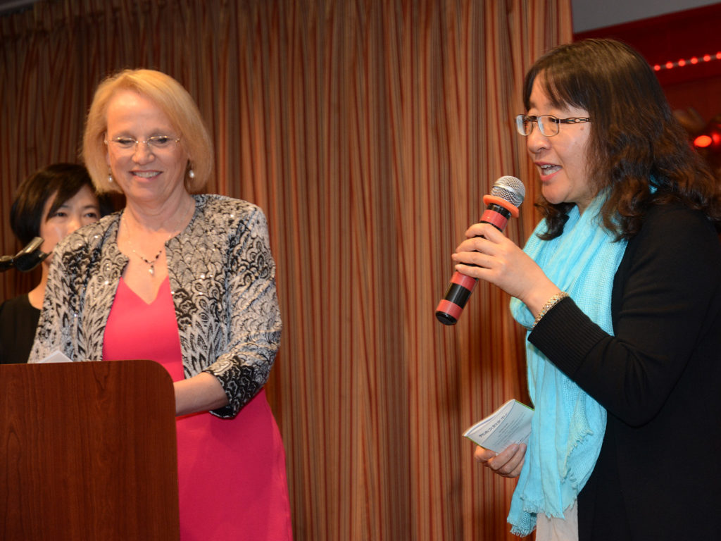 Carol Day and May Wang speaking