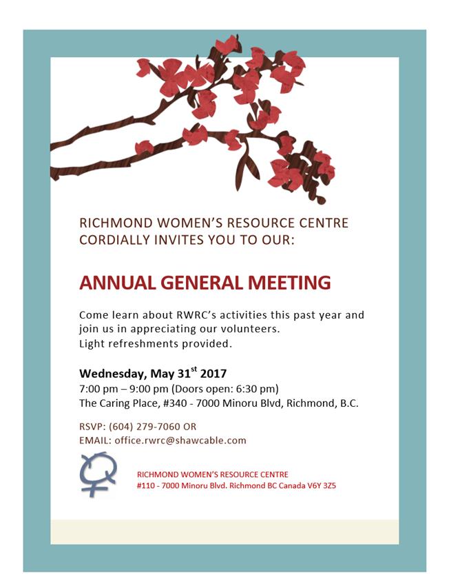 2017 RWRC AGM Invite