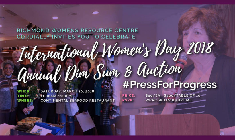 International Women's Day 2018 – Annual Dim Sum & Auction
