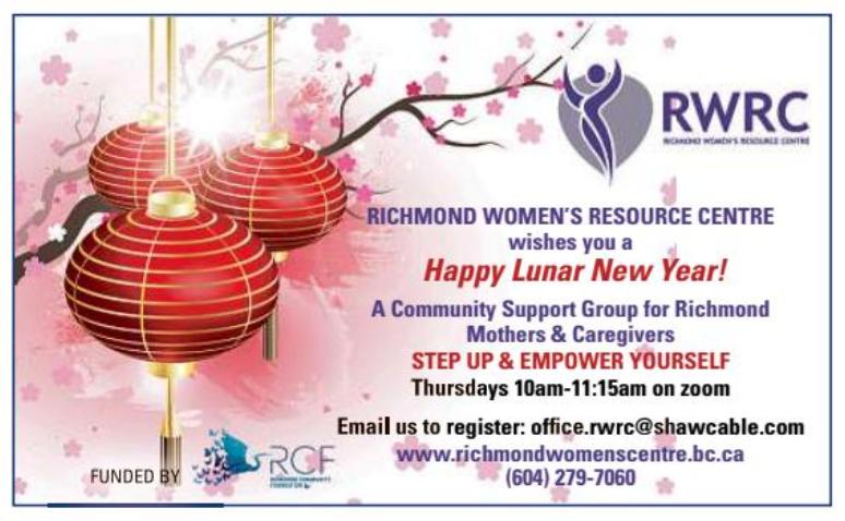 RWRC Lunar New Year ad in Richmond News