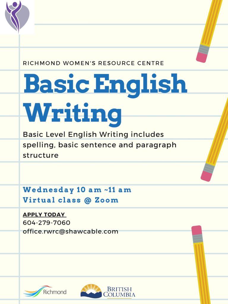 Basic English Writing Flyer
